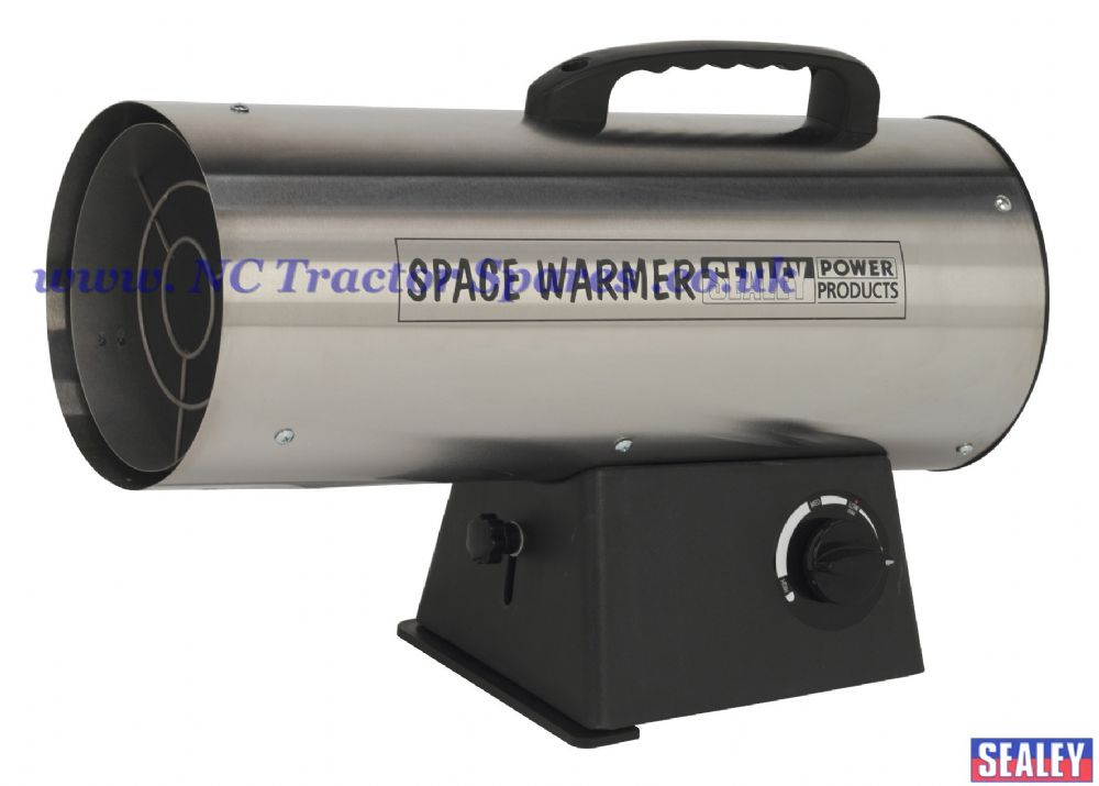 Space Warmer Propane Heater 33,000-55,000Btu/hr - Stainless Steel